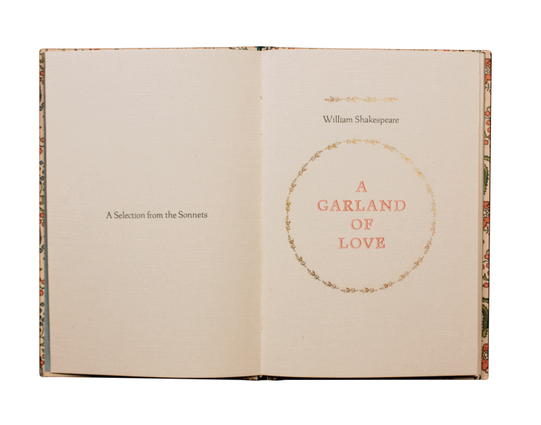 A Garland of Love.; A Selection from the Sonnets. William SHAKESPEARE, William Rueter.