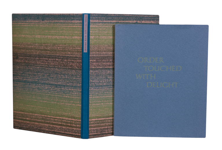 Order Touched with Delight; | Some personal observations on the nature of the private press with an account of The Aliquando Press newly revised by William Rueter and printed at The Aliquando Press. William RUETER.