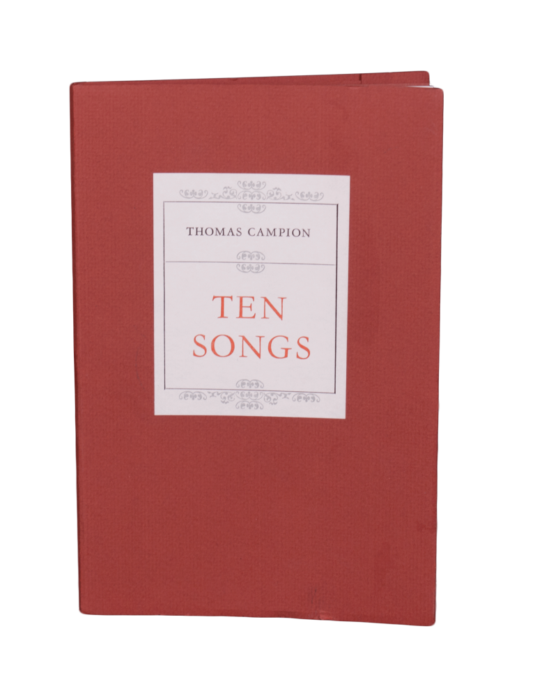 Ten Songs. Thomas CAMPION.