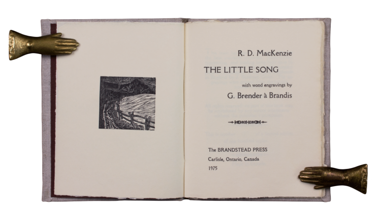The Little Song; | with wood engravings by G. Brender à Brandis. R. D. MacKENZIE.