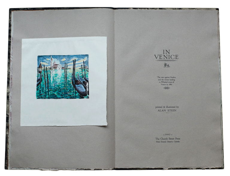 In Venice; | The case against Ruskin and the Events Leading to Whistler's tour of Venice in 1880. Alan STEIN, ed.