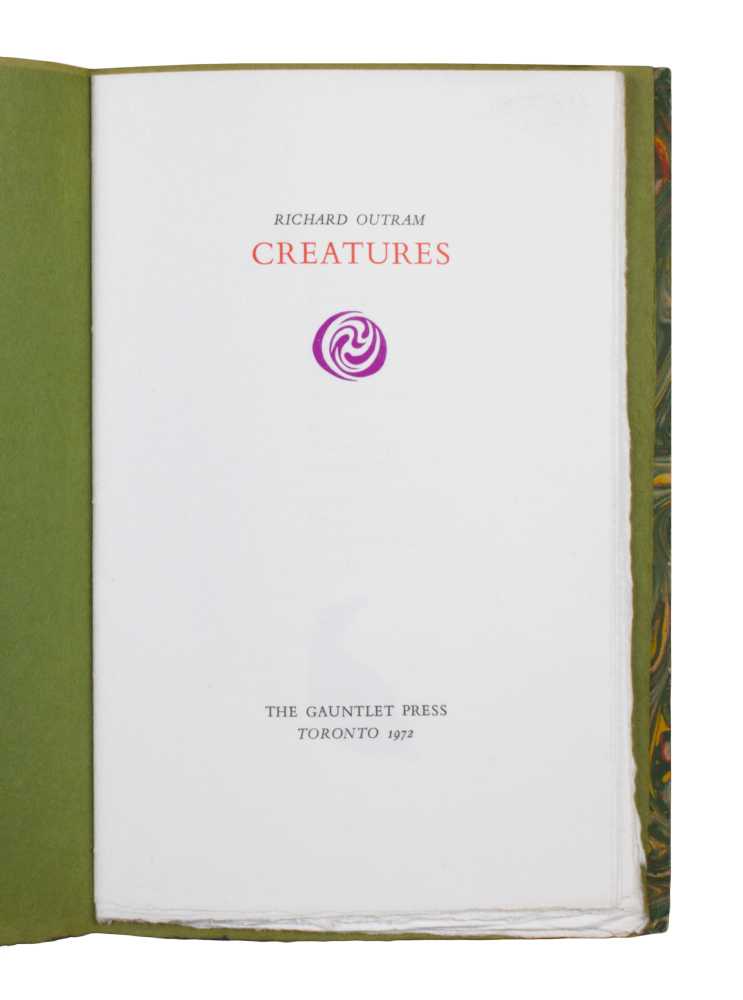 Creatures. Richard OUTRAM.