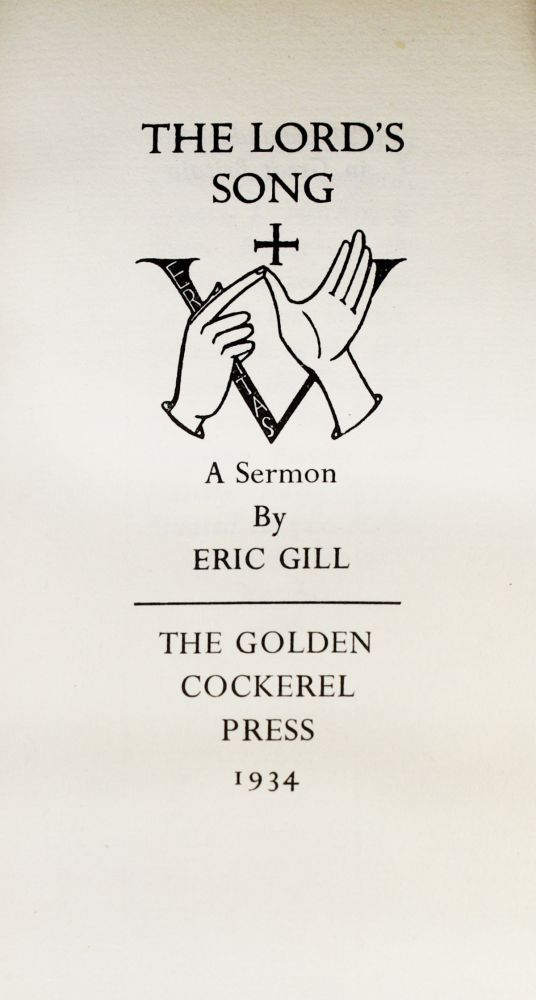 The Lord's Song. Eric GILL.