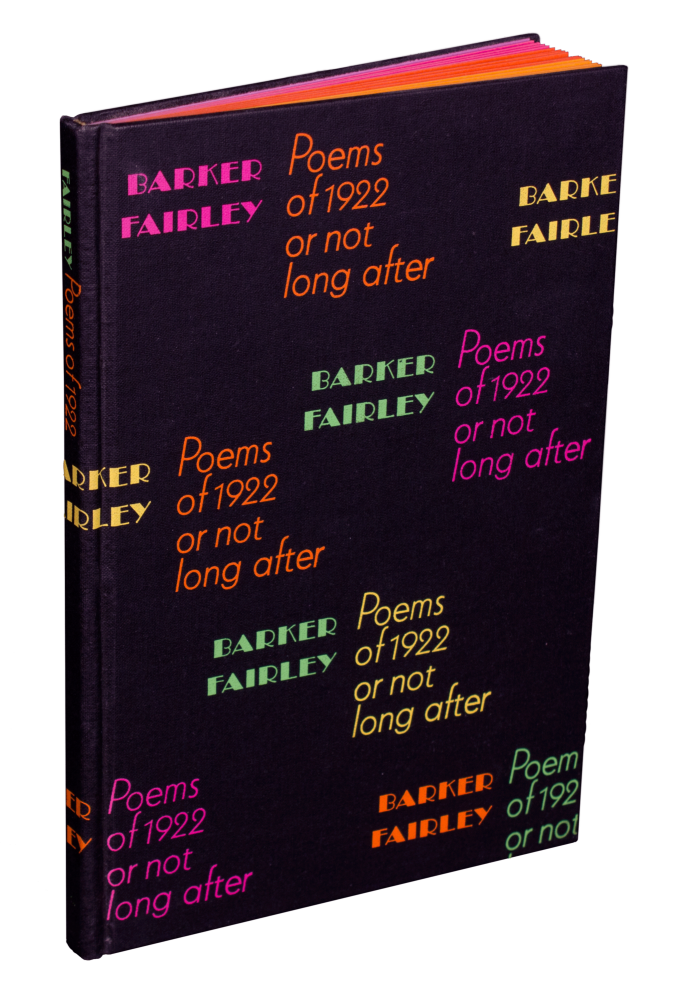 Poems of 1922 or not long after. Barker FAIRLEY.