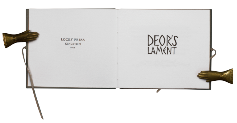 Deor's Lament. ANONYMOUS, trans Frederick Lock.