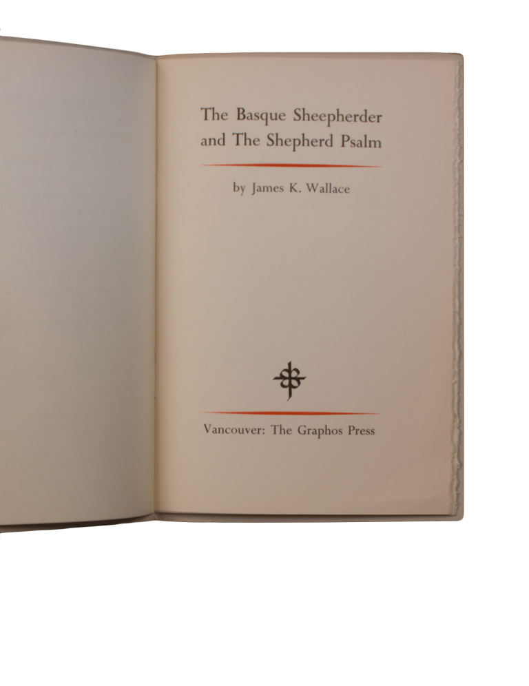 The Basque Sheepherder and The Shepherd Psalm. James K. WALLACE.