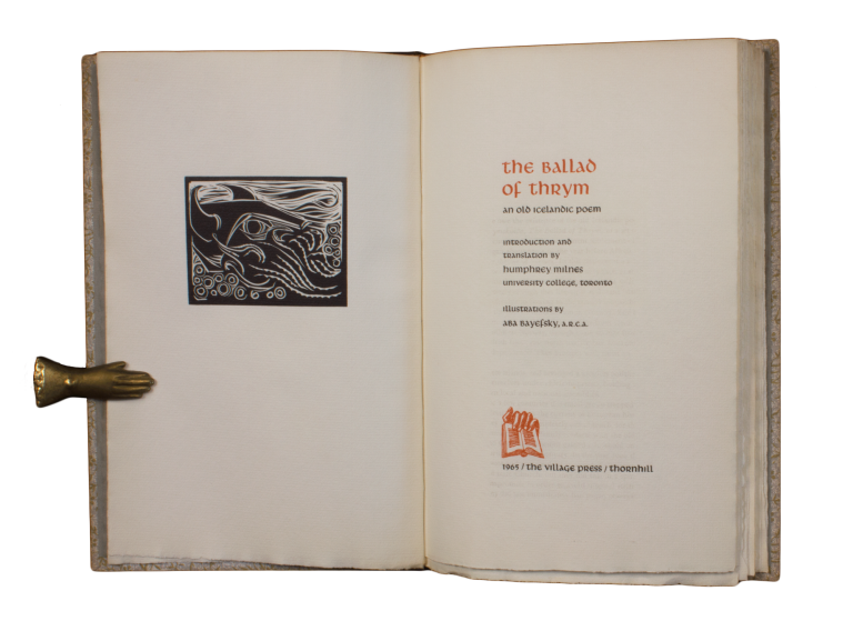 The Ballad of Thrym.; An Old Icelandic Poem | Introduction and translation by Humphrey Milnes… Illustrations by Aba Bayefsky. Humphrey MILNES, trans.