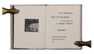 The Little Song; | with wood engravings by G. Brender à Brandis. R. D. MacKENZIE