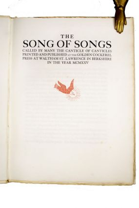 Song of Songs | called by many the Canticle of Canticles.