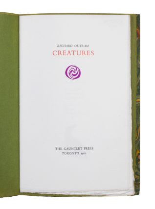 Creatures. Richard OUTRAM