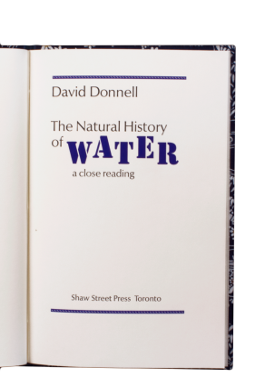The Natural History of Water.