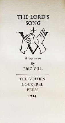 The Lord's Song. Eric GILL