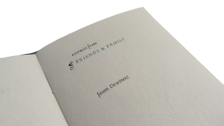 Extracts from Friends & Family. Jason DEWINETZ