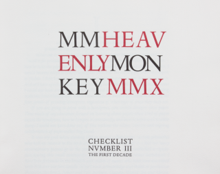 MM | Heavenly Monkey | MMX; | Checklist Nvmber III | The First Decade.
