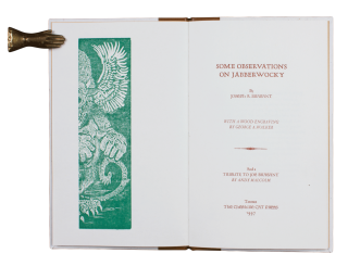 Some Observations on Jabberwocky; | With a Wood Engraving by George A. Walker | And a Tribute to...