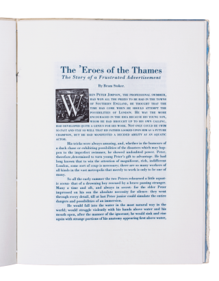 The 'Eroes of the Thames; | The Story of a Frustrated Advertisement. With an introduction by John Moore and wood engravings by George A. Walker.