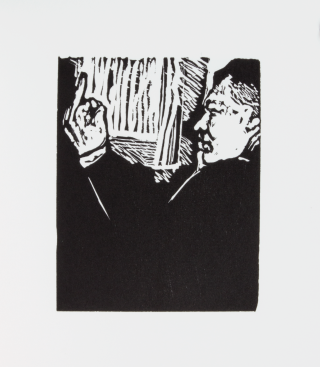 Conrad Black; | A Visual Biography Told in 100 Wood Engravings.