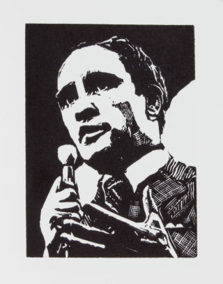 Pierre Elliott Trudeau | La Vie en Rose; | A Biography Told in 80 Wood Engravings.
