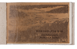 In the Hands of the Wind; | sixteen linoleum prints by Ann Bowman & Tara Bryan. Ann BOWMAN, Tara...