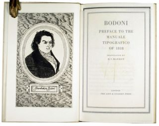 Preface to the MANUALE TIPOGRAFICO of 1818.
