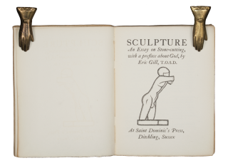 Sculpture | An Essay on Stone-cutting, with a preface about God, by Eric Gill, T.O.S.D.