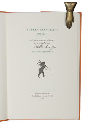Aubrey Beardsley: Poems | with an introduction and notes by Matthew Sturgis.