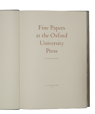 Fine Papers the Oxford University Press.